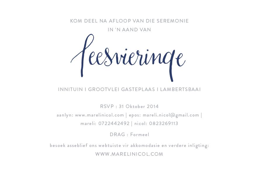 invitations uitnodigings mareli nicol